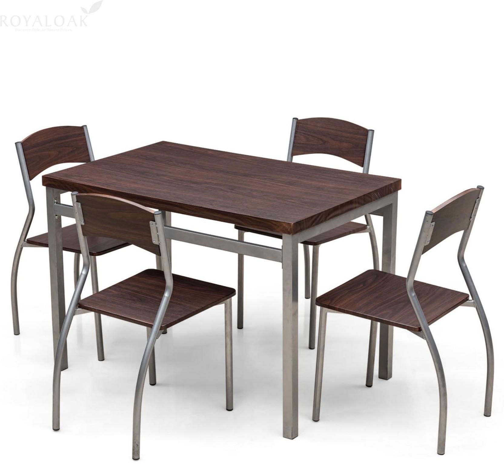 RoyalOak ZITA Engineered Wood 4 Seater Dining Set Price in  : 4 seater na mdf dt71nt 4 royaloak honey brown original imaex8aj7tqqhdte from www.flipkart.com size 1664 x 1532 jpeg 219kB