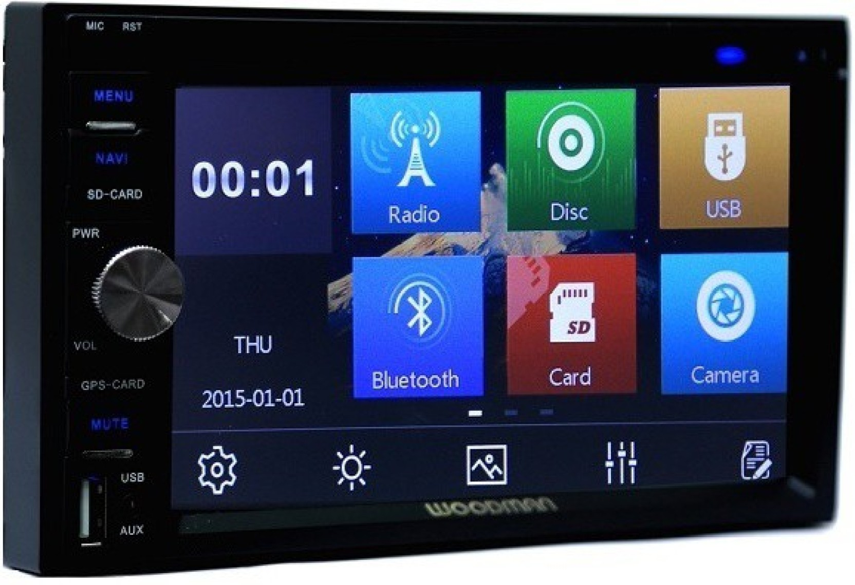 Din Bluetooth Car Stereo With Wheel Controls