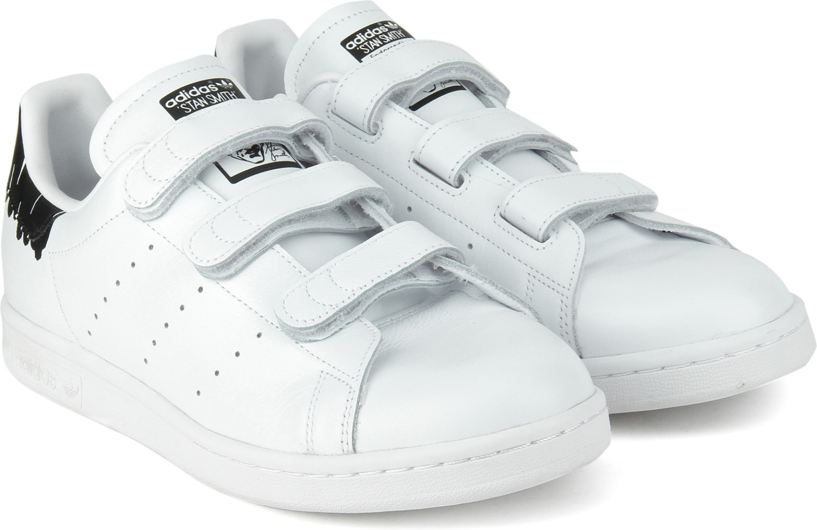 finest selection 56f25 15d86 ADIDAS ORIGINALS STAN SMITH CF W Sneakers For Women (Black, White)