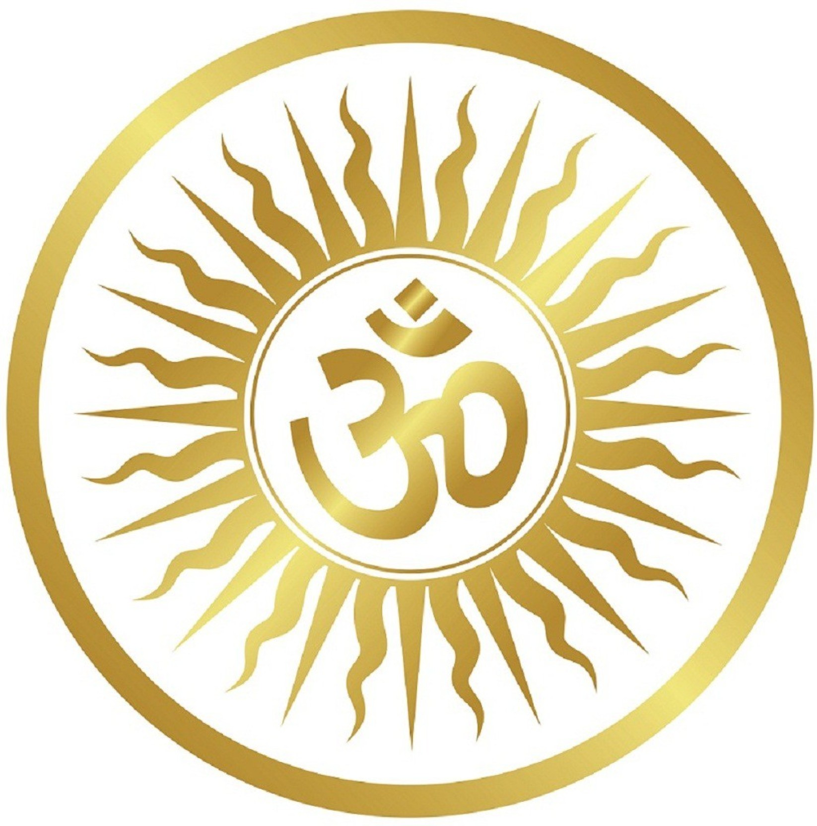 Asmi collections medium beautiful om sticker pack of 1