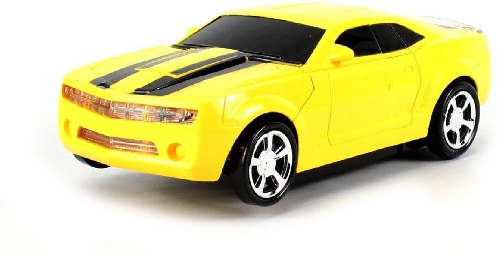 Transformers Car Light Up Bump And Go LED Yellow Generic Bumble Bee Toy Sound