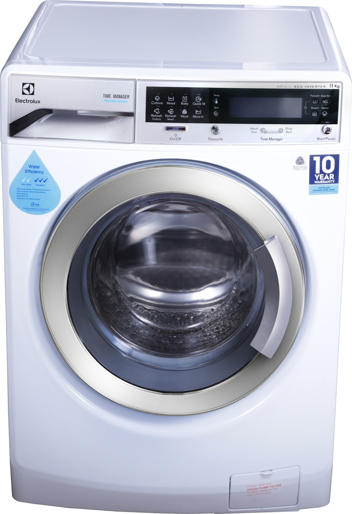 Electrolux 11 Kg Fully Automatic Front Load Washing ...