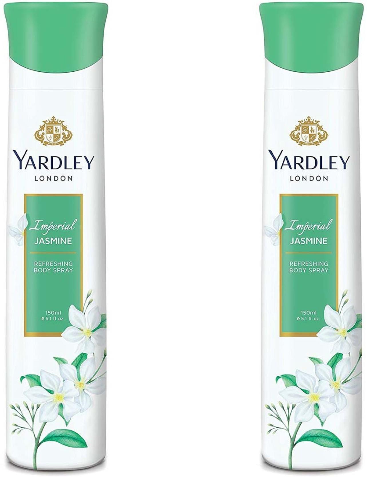 Yardley London Imperial Jasmine Perfumed Deo 150ml Body Mist For Enchanteur Eau De Cologne Romantic 120 Ml On Offer