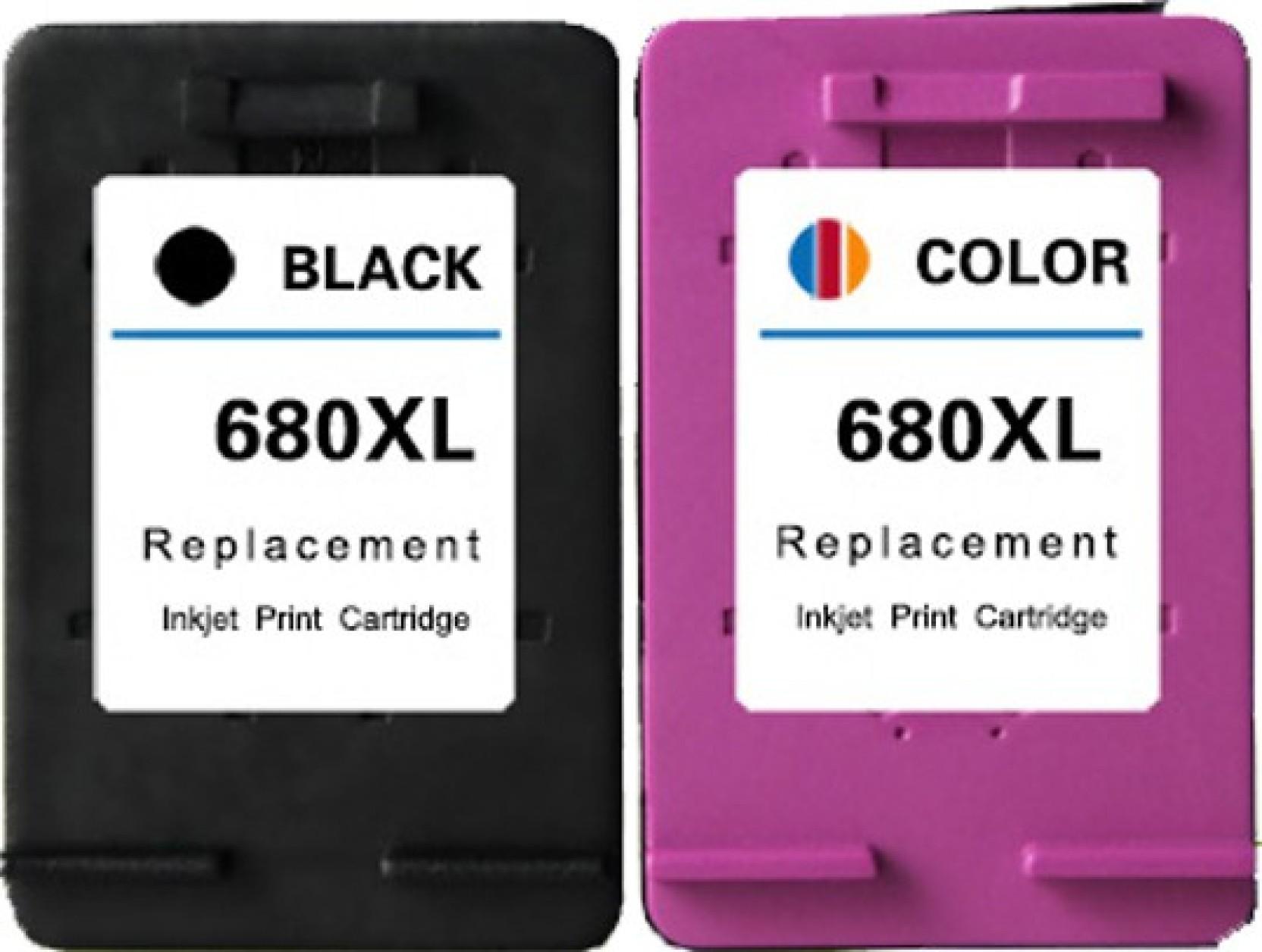 Green 680 Black And Color Cartridge Multi Ink Tinta Hp Original Compare