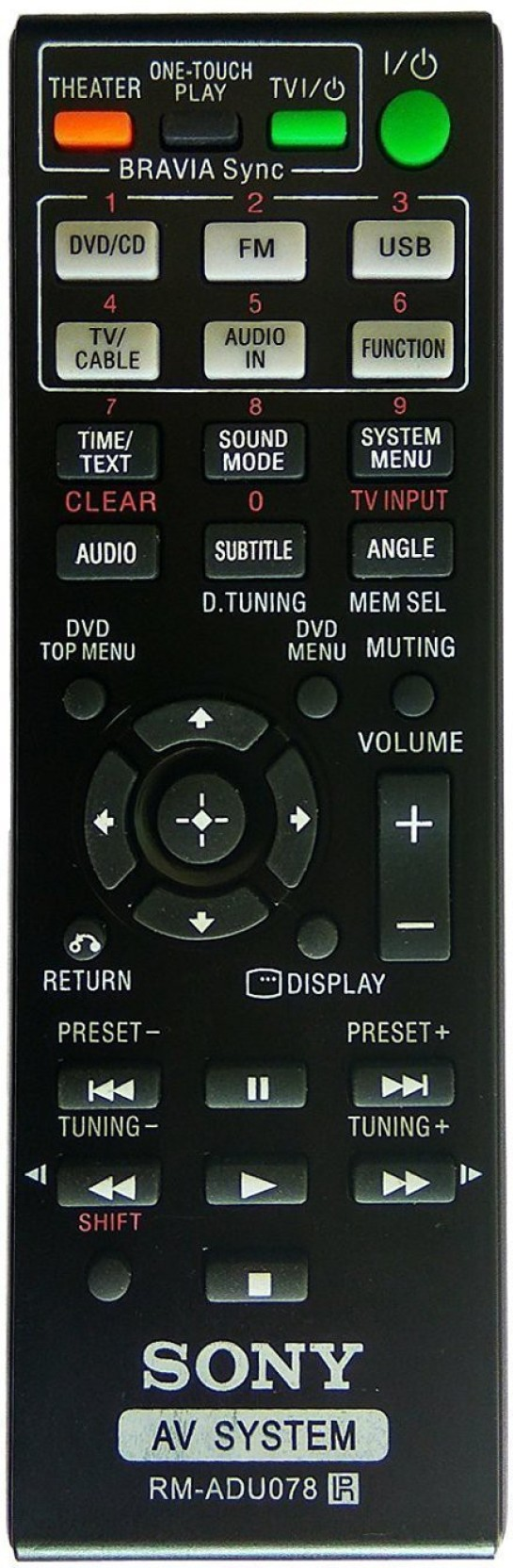 LipiWorld RM-ADU078 Compatible For Sony Home Theater System Remote  Controller