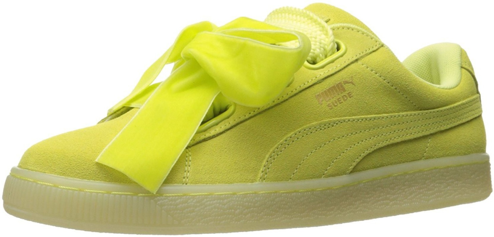 Puma Suede Heart RESET Wn s sneaker For Women - Buy SOFT FLUO YELLOW ... b7caac6fd8