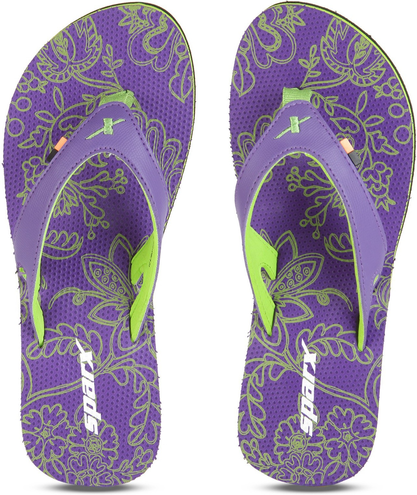 d0baf314c86e Sparx Slippers - Buy Purple Fl.Green Color Sparx Slippers Online at ...