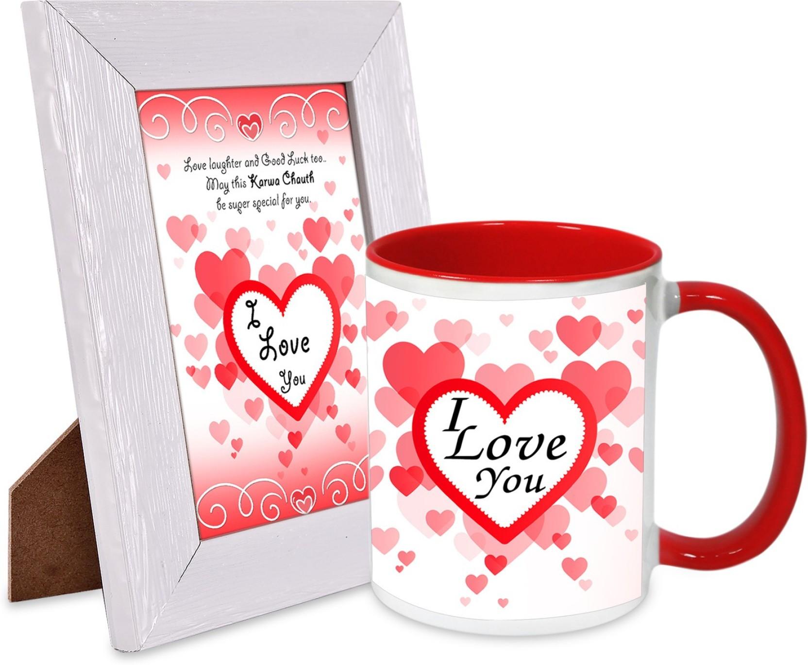 alwaysgift Special Karwa Chauth Quotation Frame & Mug Hamper Mug ...