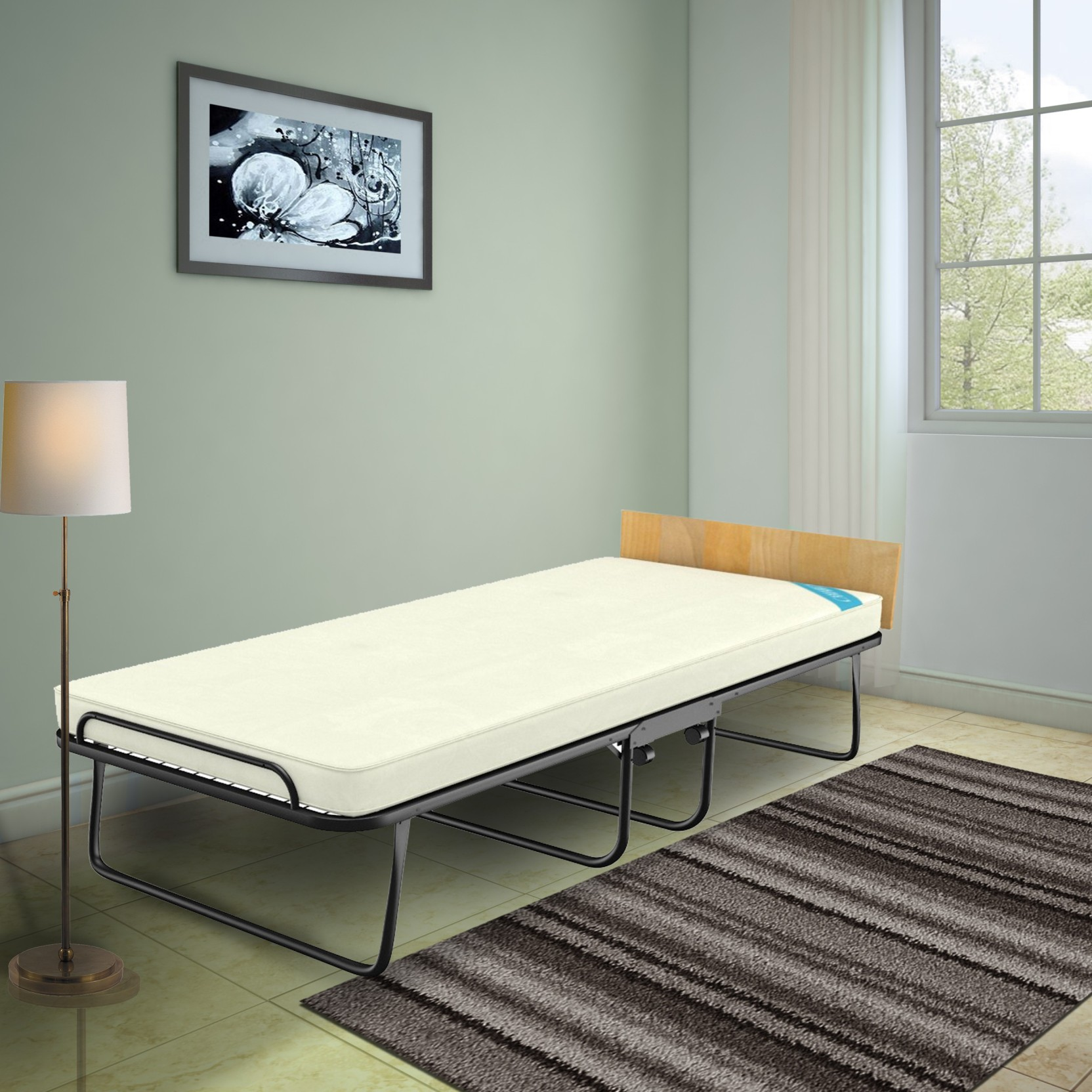 Camabeds Easy Premium Single Folding Roll Away Bed With 3