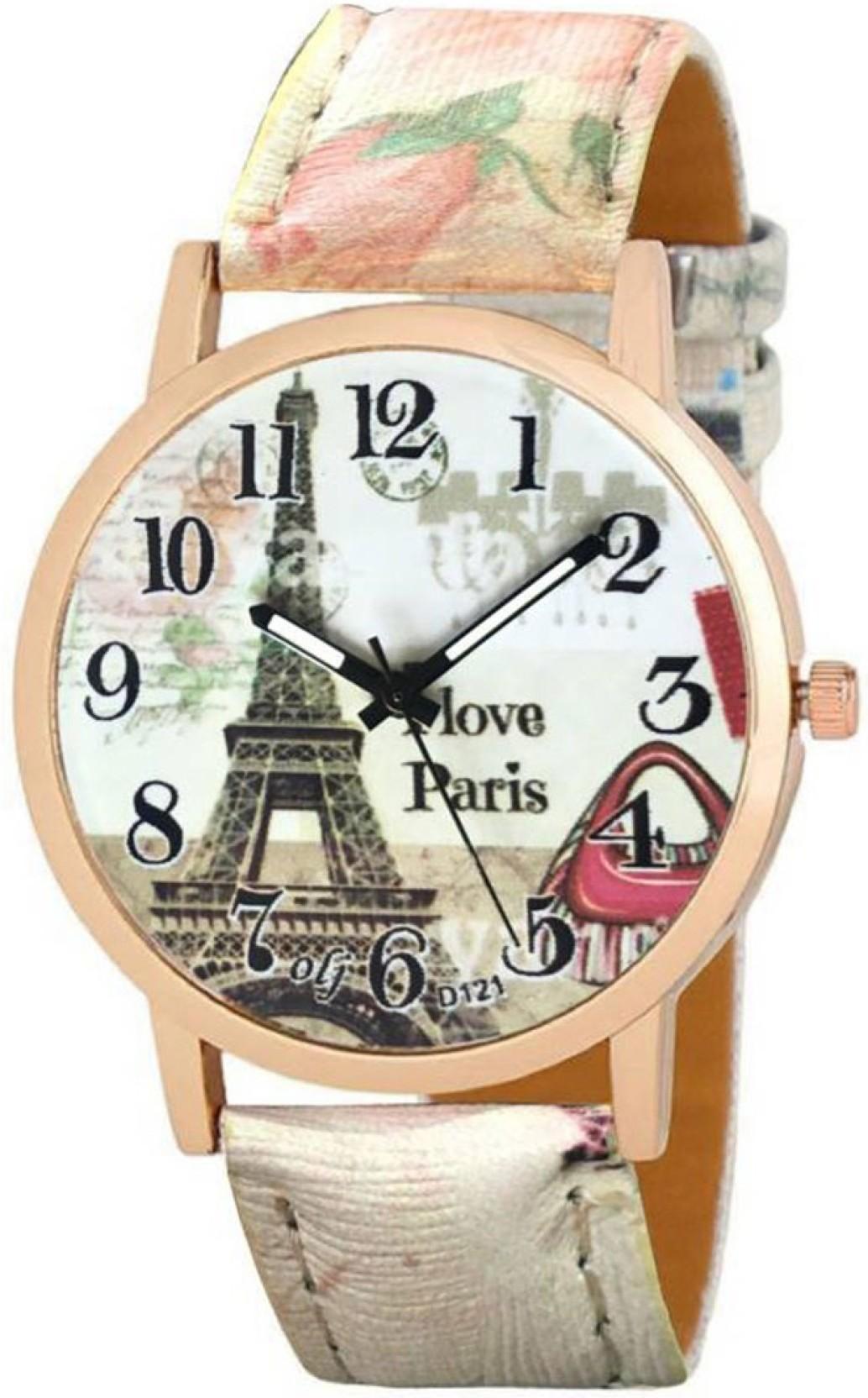Frida analogue stylish designer watches for girls and women paris ...