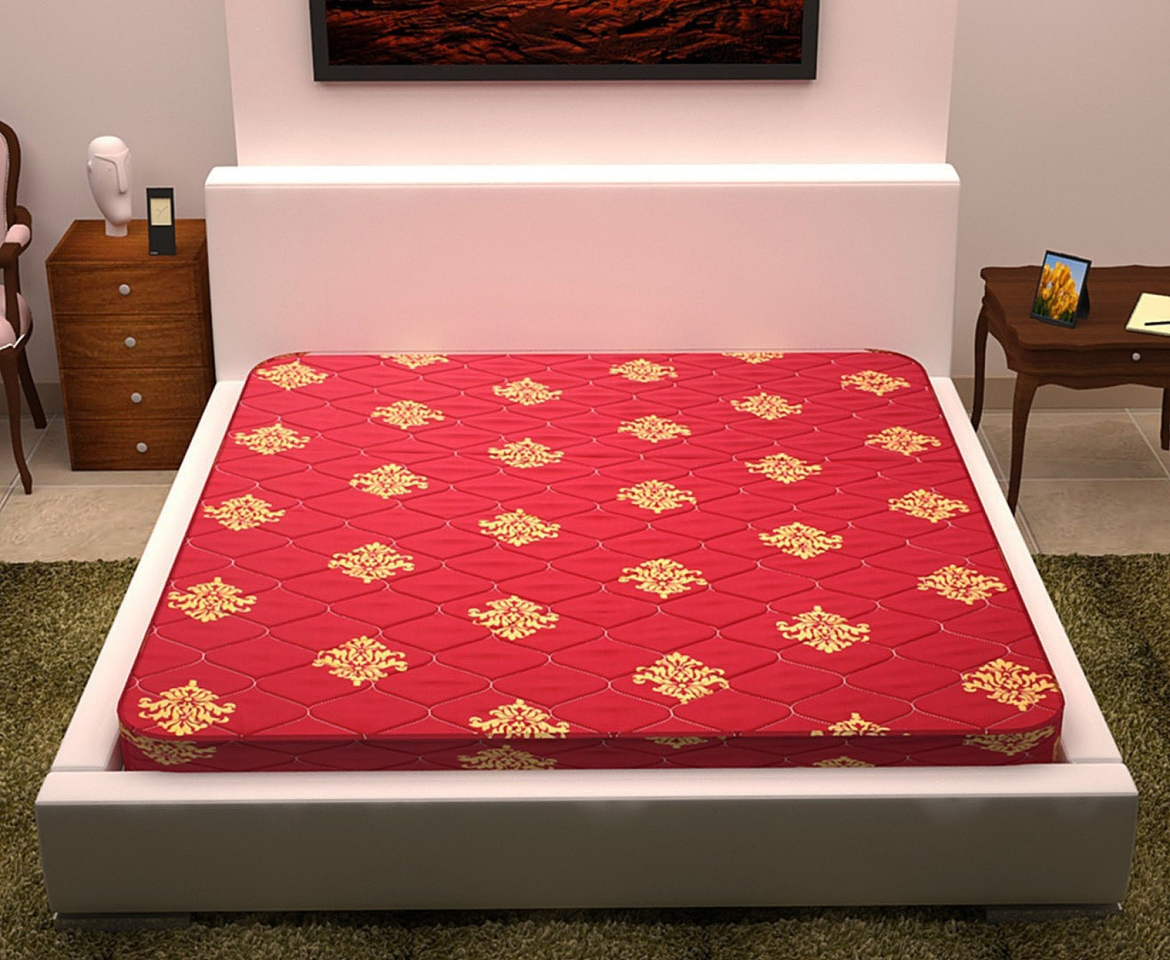 story home foammat 4 inch queen high density hd foam mattress price in india buy story home. Black Bedroom Furniture Sets. Home Design Ideas