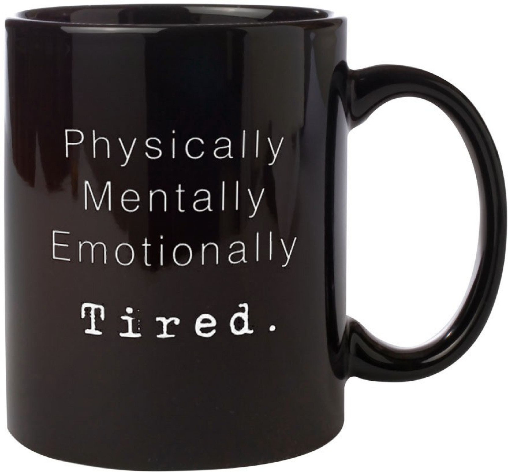 Noozarts BLACK ELEGANT MUG WITH QUOTES - PHYSICALLY MENTALLY ...