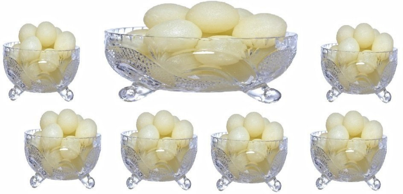 Ezra Designer Transparent Beautiful Crystal Pudding Set Serving Claire Ivory Nokha Wedges Women 39 Add To Cart