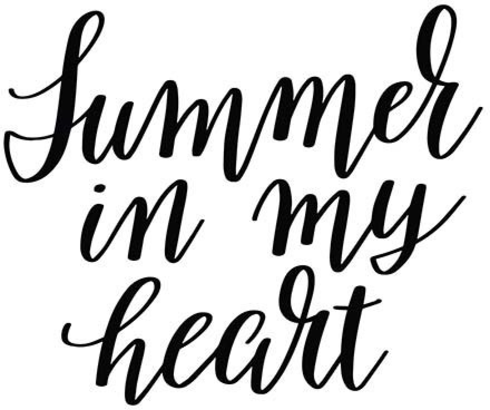 Posters Summer In My Heart Quote Printed Poster Funny