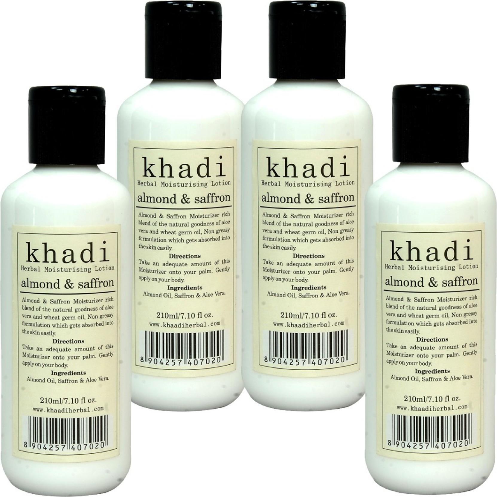 Khadi Herbal Almond & Saffron Moisturising Lotion - Price in