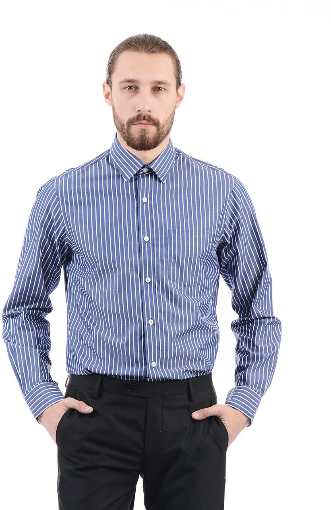 Arrow Men Striped Formal Blue Shirt Buy Arrow Men Striped Formal