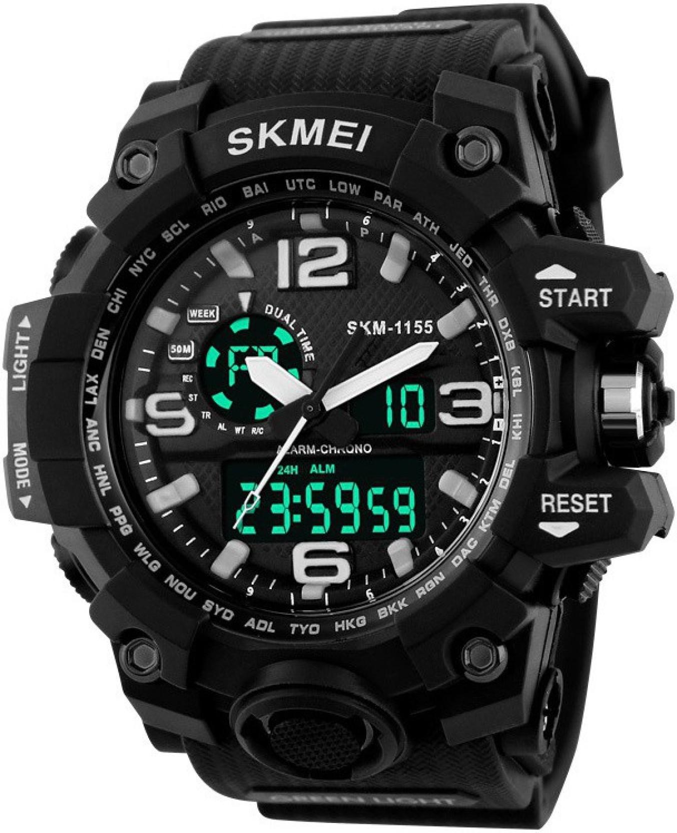 Skmei AD1155BLK ANADIG Watch For Men Buy Skmei AD1155BLK