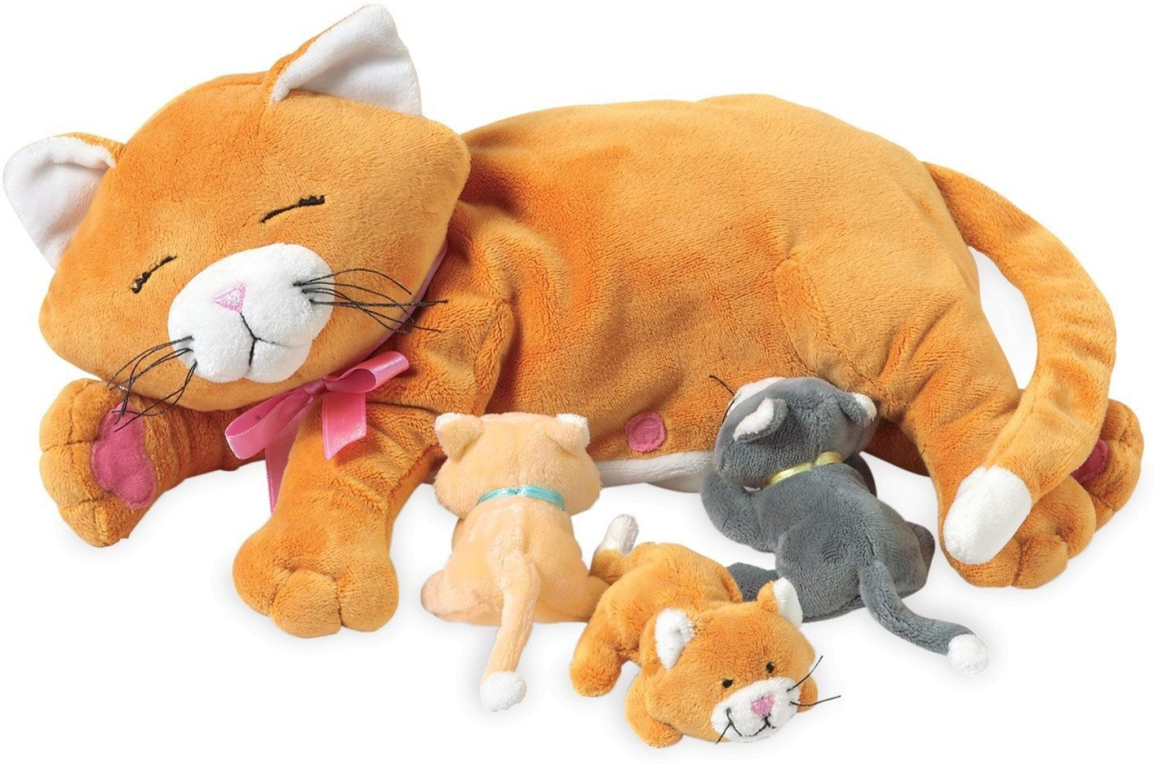 b576c9f7ad92 Plush Toys Plush Momma Cat With Meowing Kittens - 5.9 inch - Plush ...