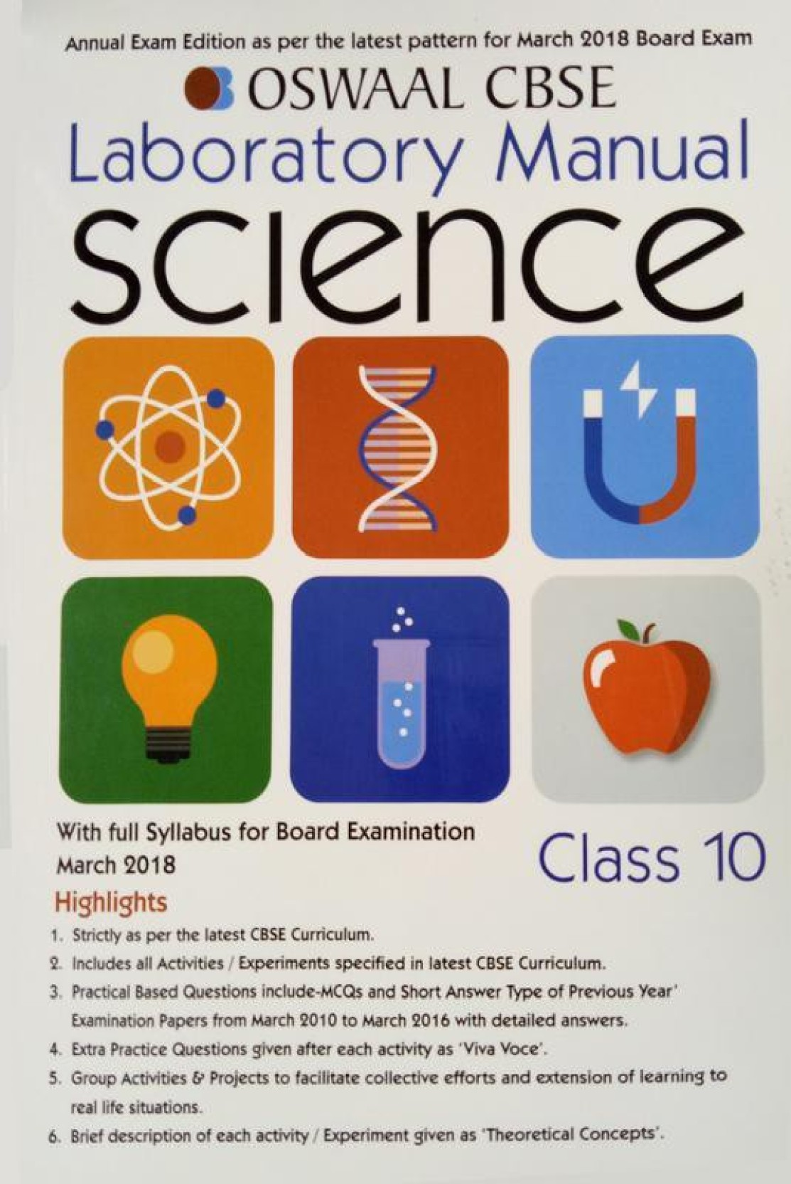 Oswaal CBSE Laboratory Manual for Class 10 Science. Home