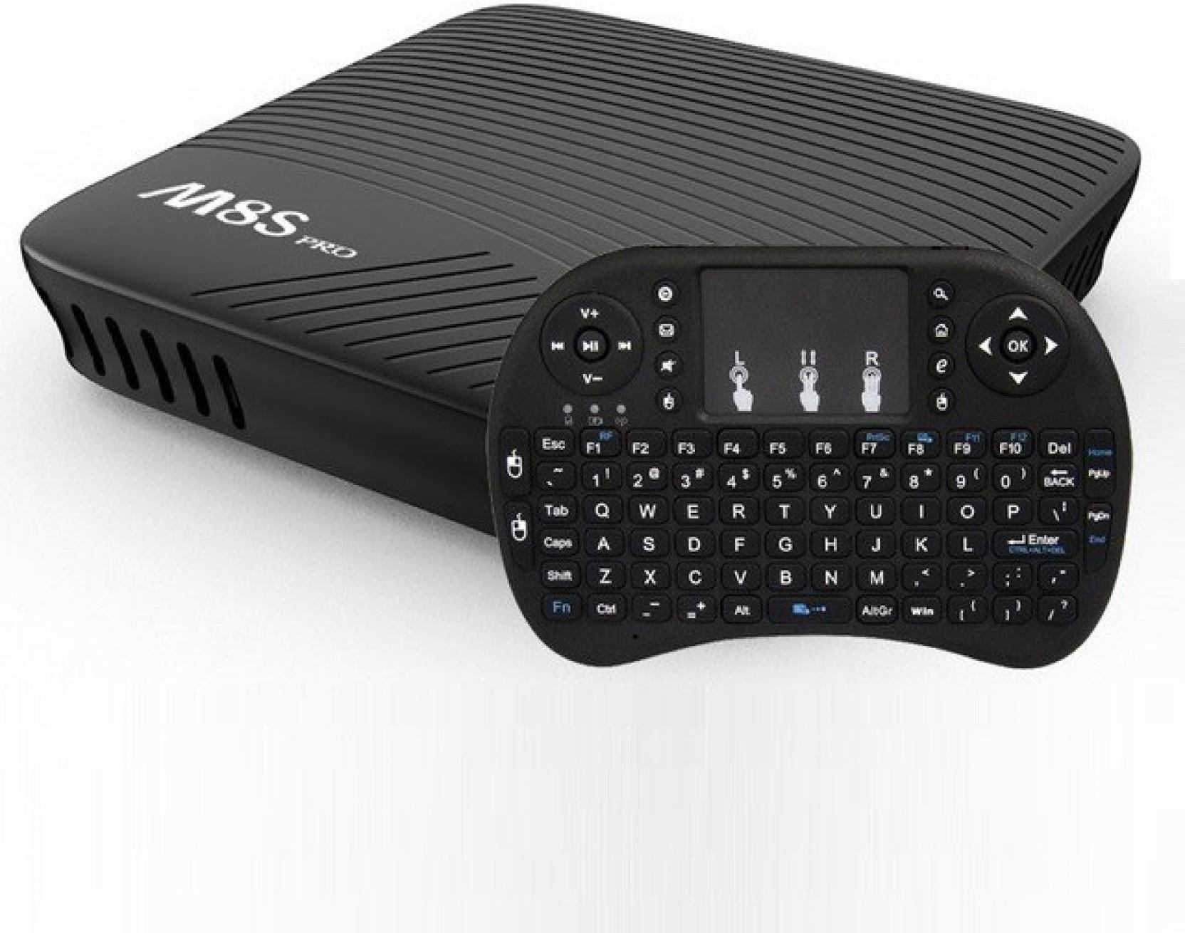 MECOOL M8S PRO W S905W Smart TV Box Quad Core Android 7.1 WIFI 4K 2.4G Keyboard