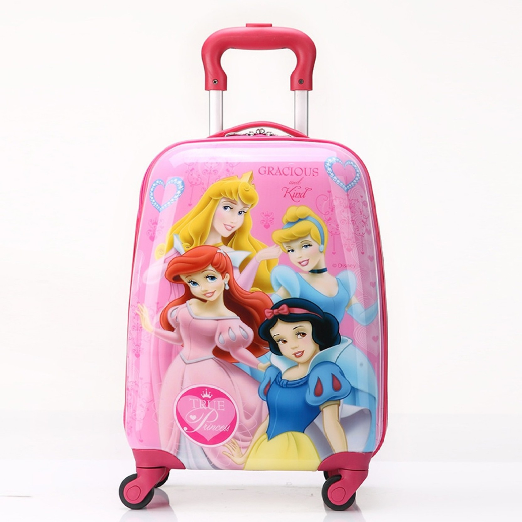 781bc2d910 GOCART Cartoon Printed Kid s Travel Trolley Bag With wheeled ...