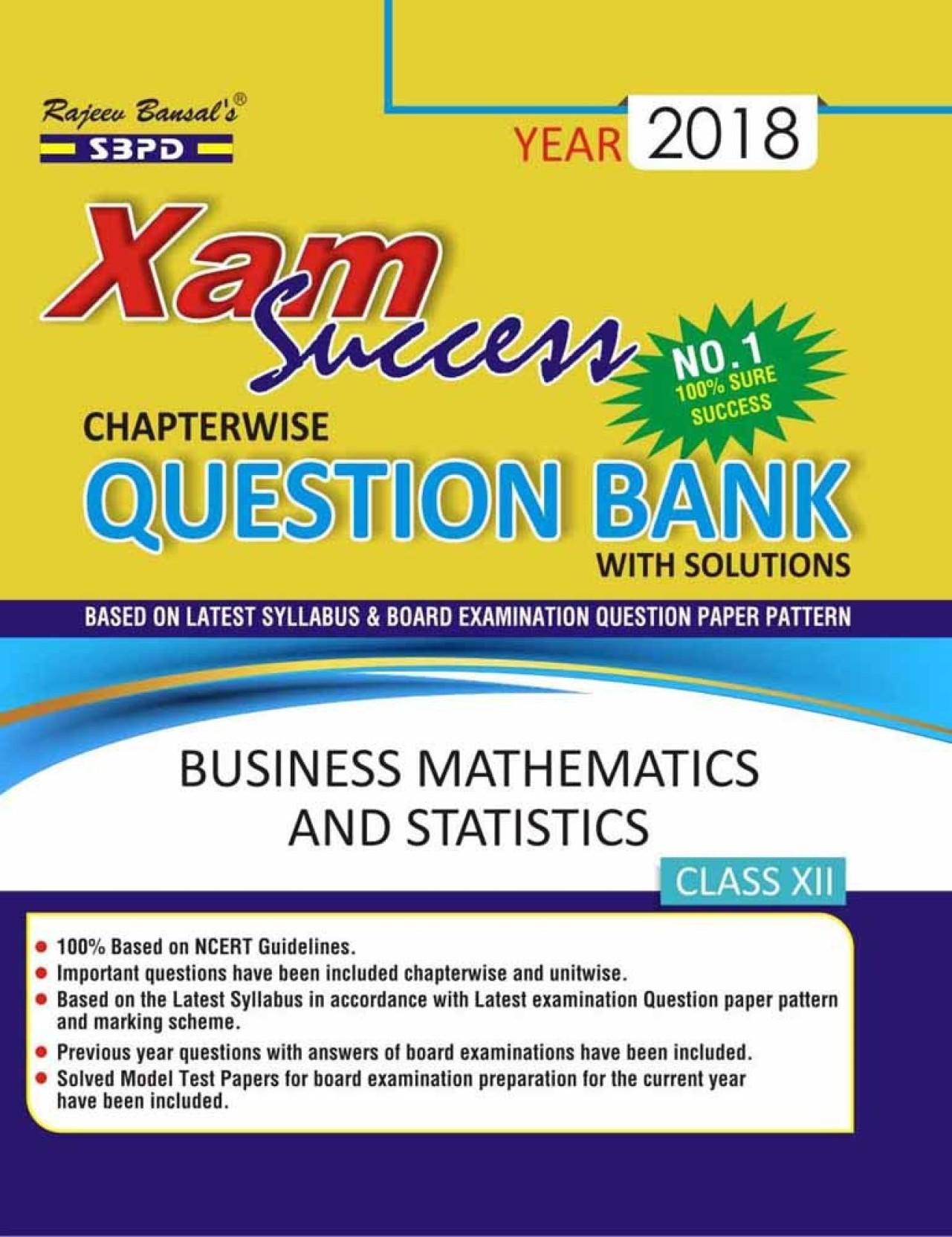 Business Mathematics And Statistics Xam Success Chapterwise