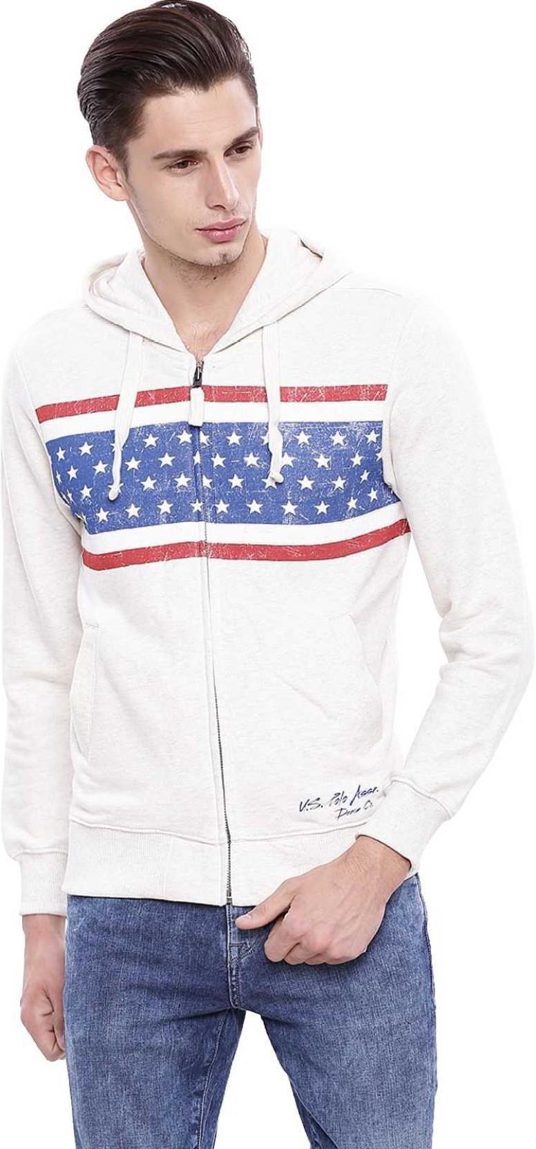fb404f1e U.S. Polo Assn Full Sleeve Striped Men Sweatshirt - Buy Ivory ...