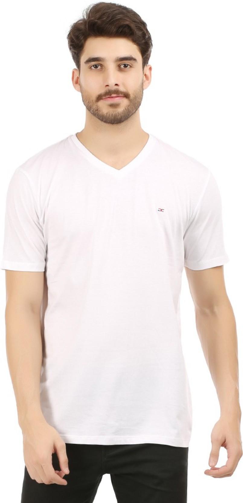 086c6745fd7d89 White T Shirts Mens V Neck