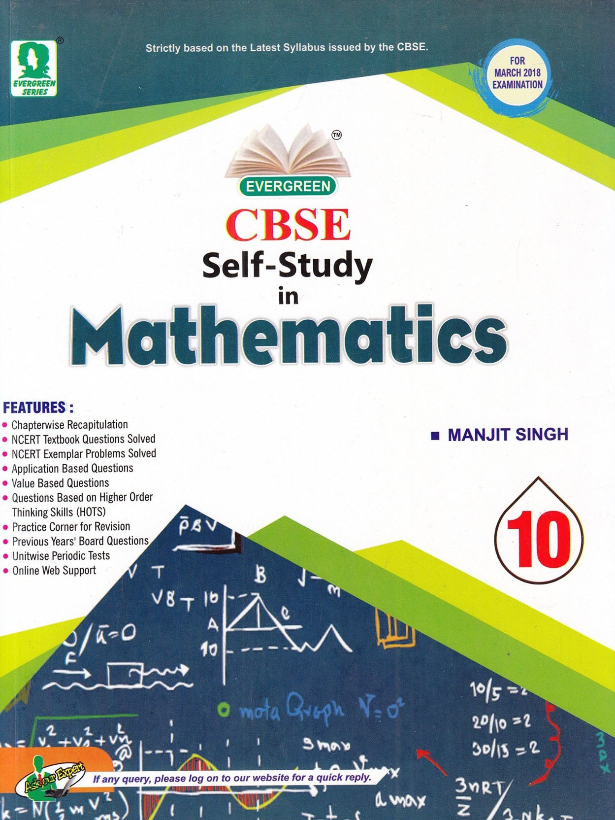 Evergreen CBSE Self Study in Mathematics 01 Edition. ADD TO CART