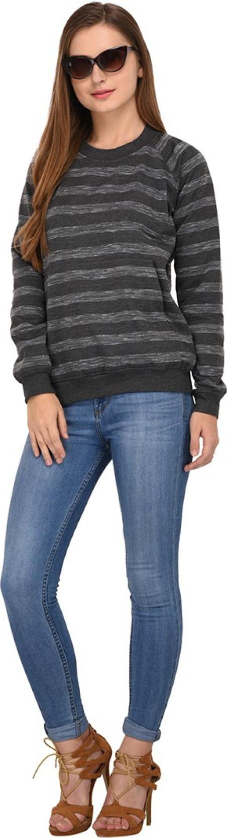 b2bd32dd Purys Full Sleeve Striped Women's Sweatshirt - Buy Purys Full Sleeve ...