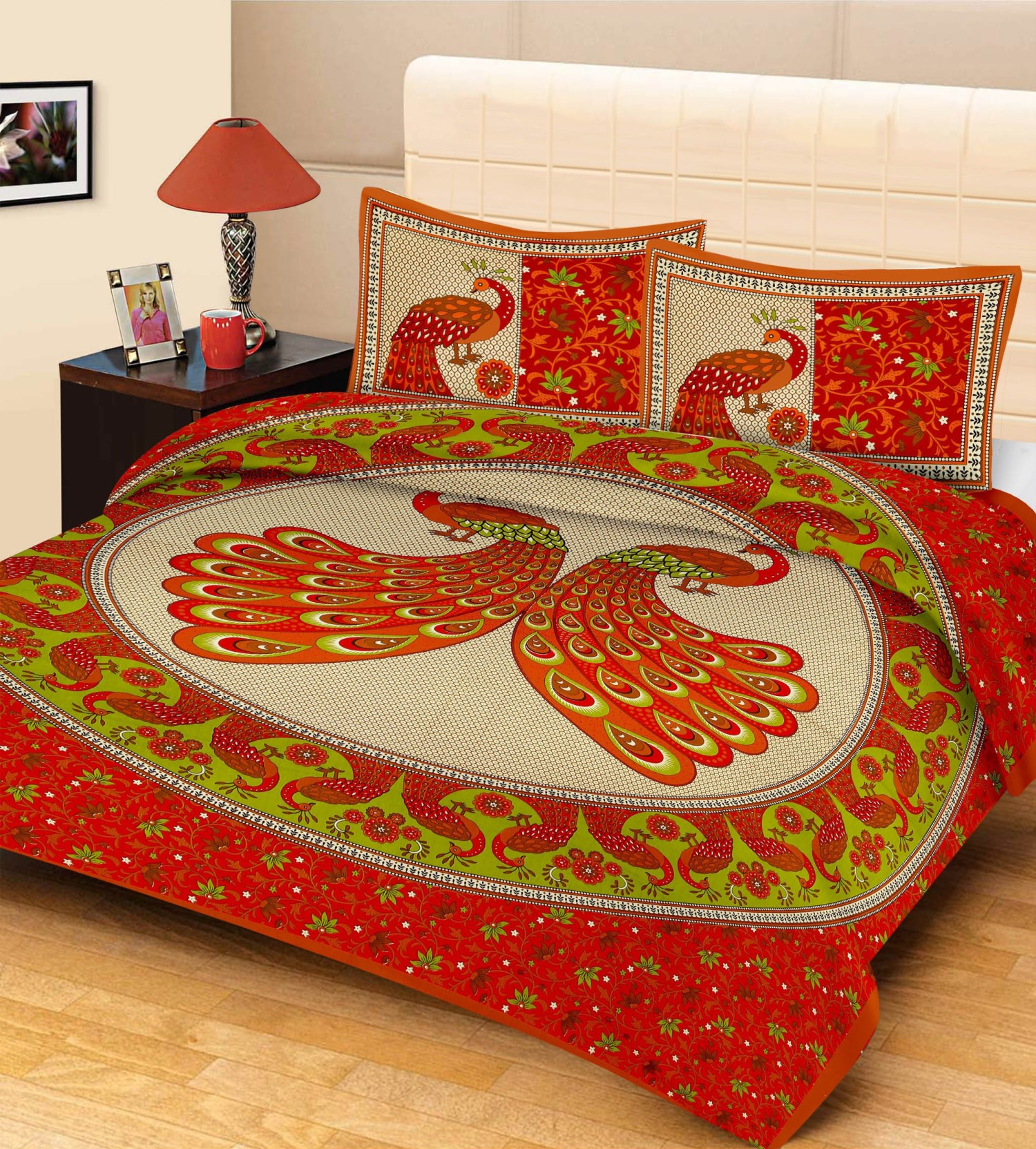 Metro Living Cotton Animal Double Bedsheet. ON OFFER