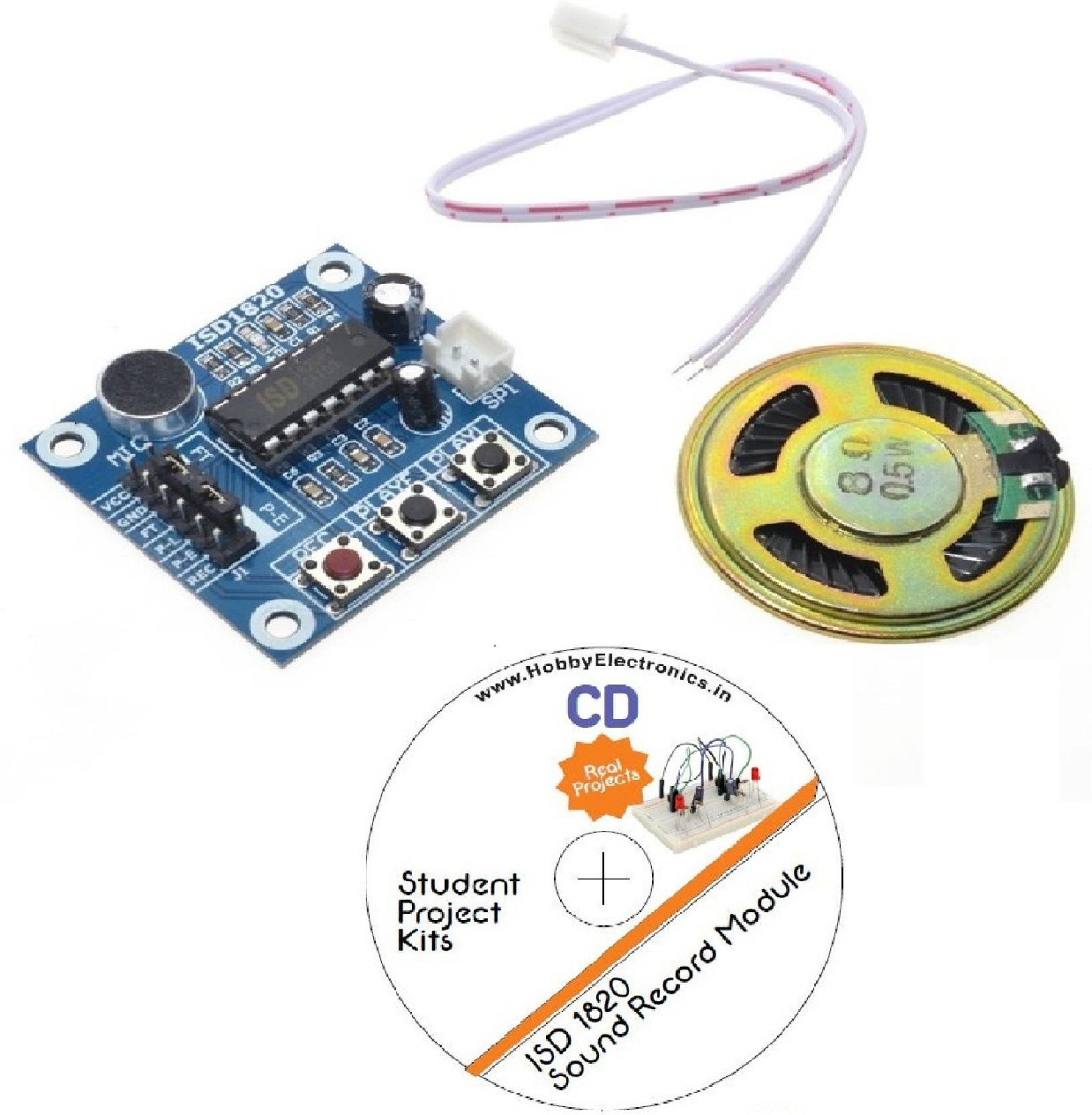 He Retail Supplies Arduino Sound Recorder Module Isd 1820 Electronic Kits Hobby Kit Miscellaneous Add To Cart