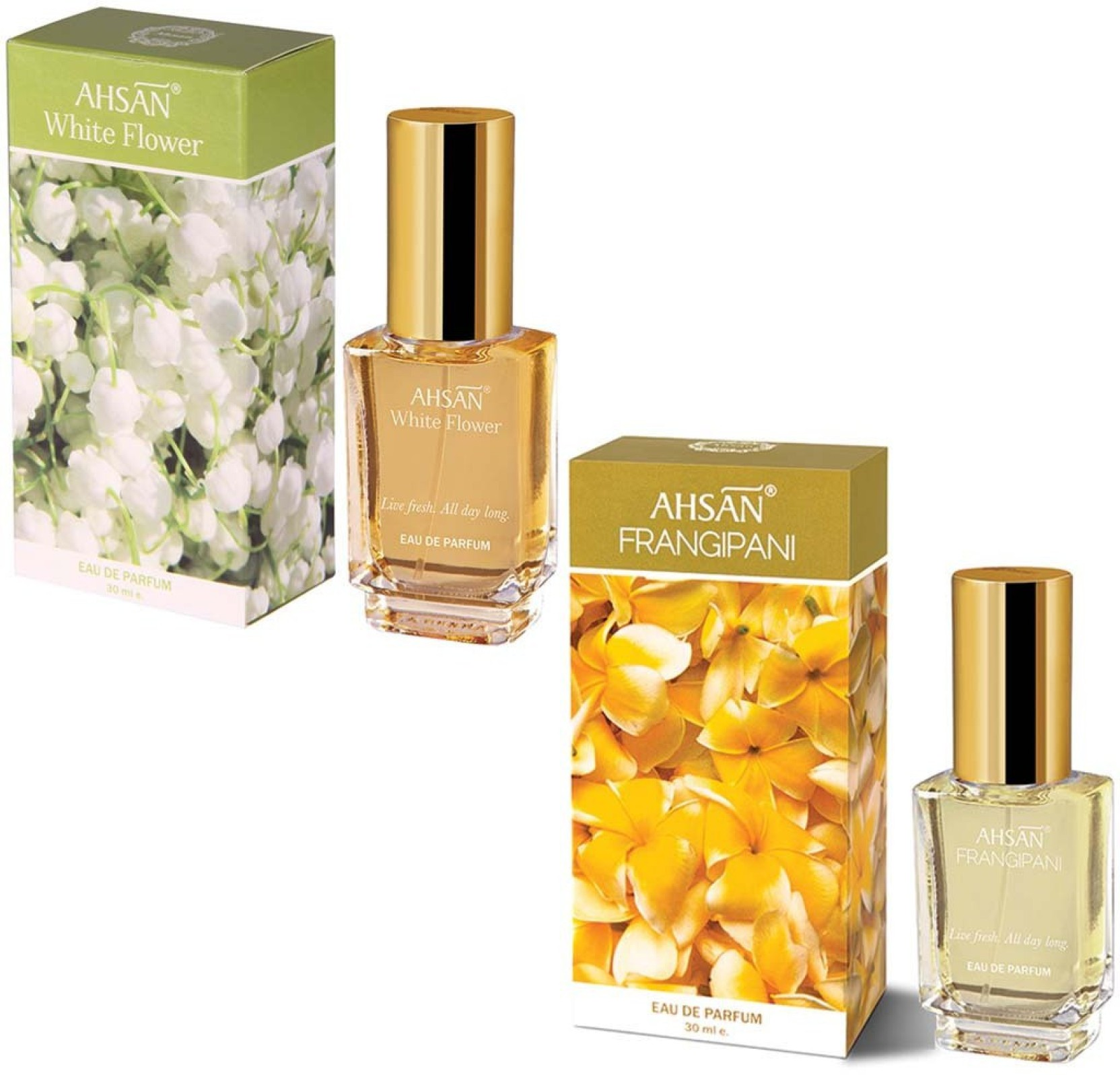 Buy Ahsan White Flower And Fragipani 30 Ml Eau De Parfum 30 Ml