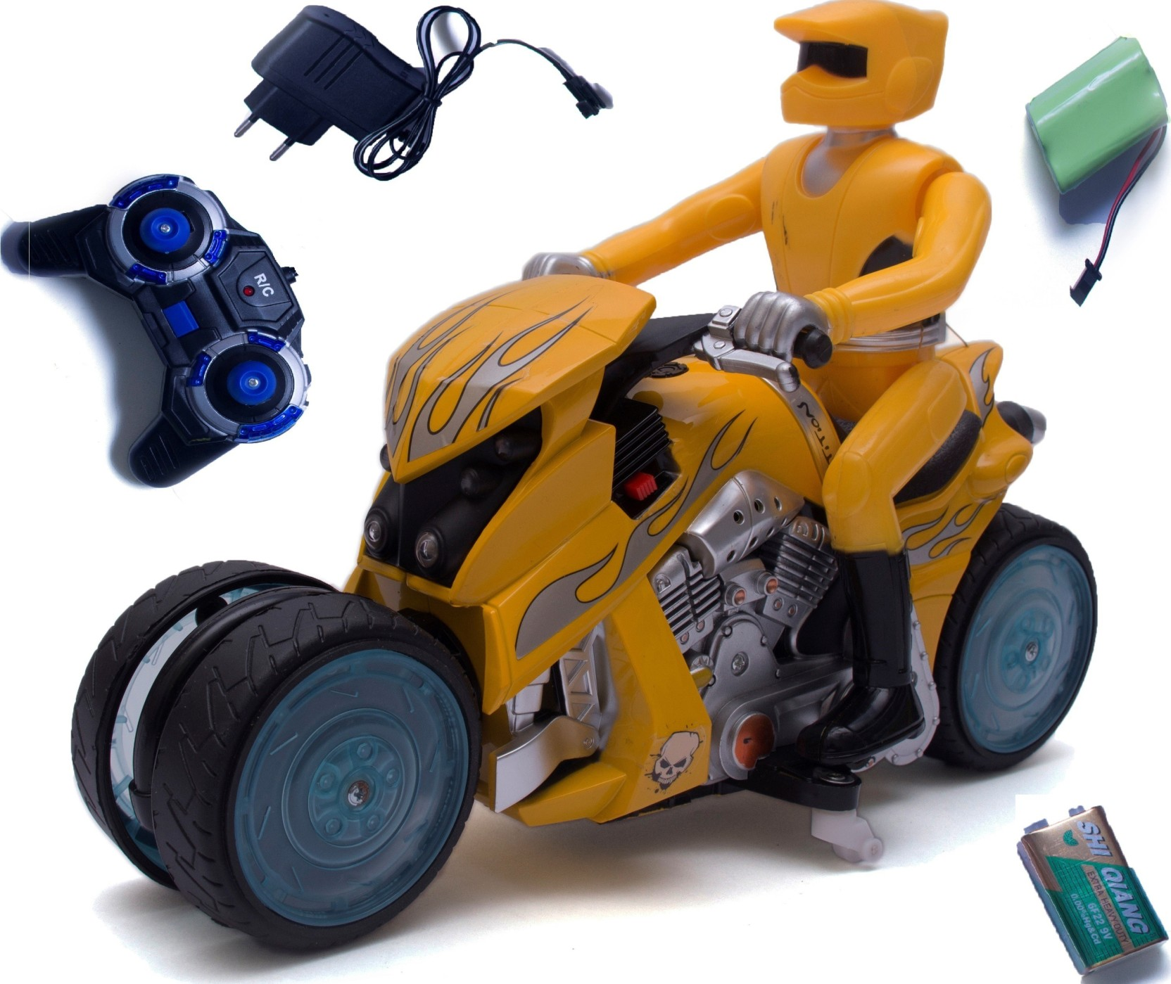 TWGE Remote Control Bike-Drift Motorcycle-360 Degree Drift