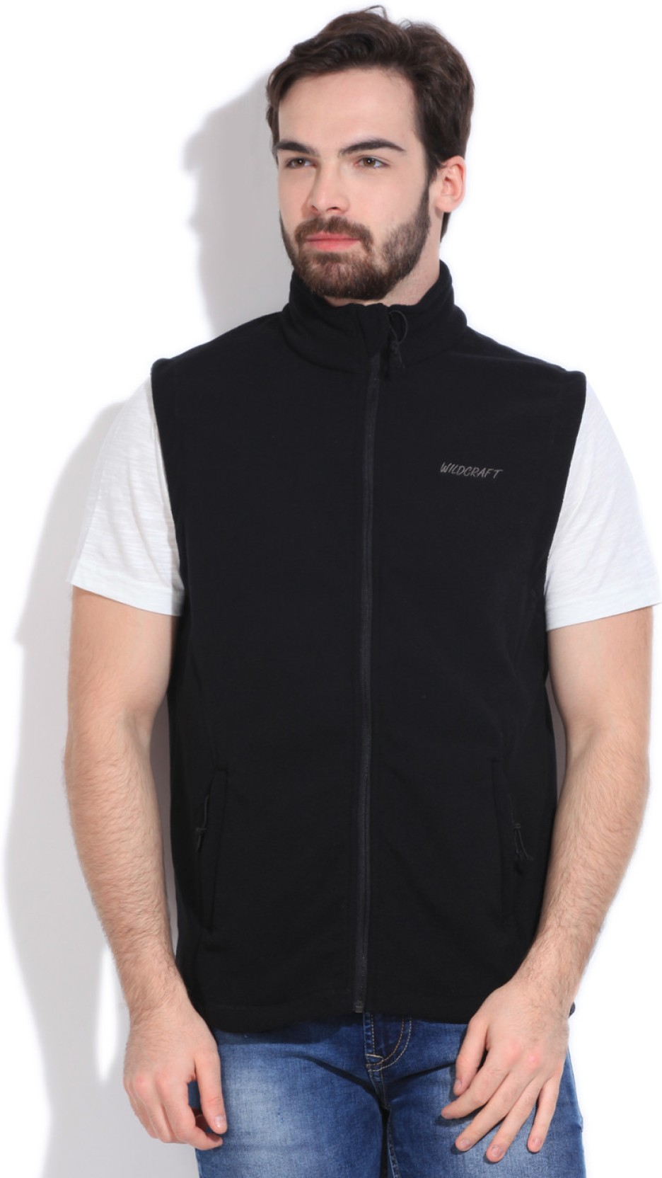 get online the sale of shoes various styles Wildcraft Sleeveless Solid Men's Fleece Jacket - Buy Black ...