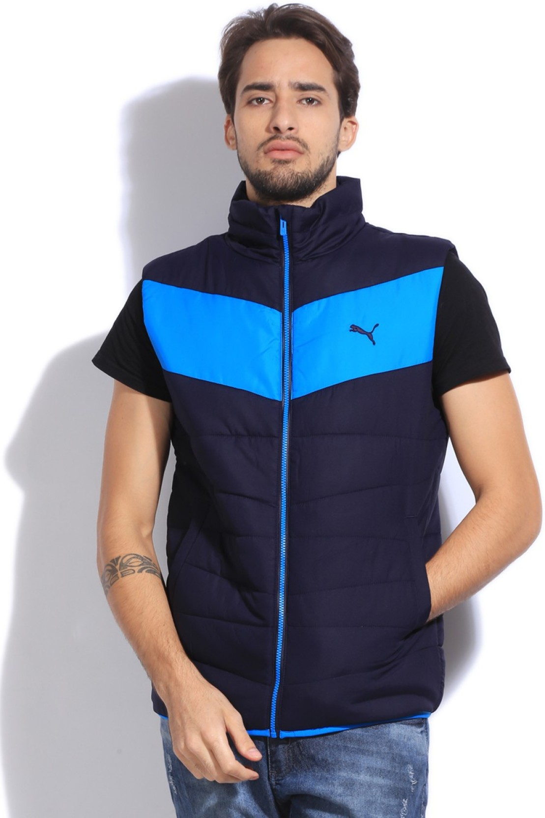 8b5b824bb6e1e Puma Sleeveless Solid Men's Quilted Jacket