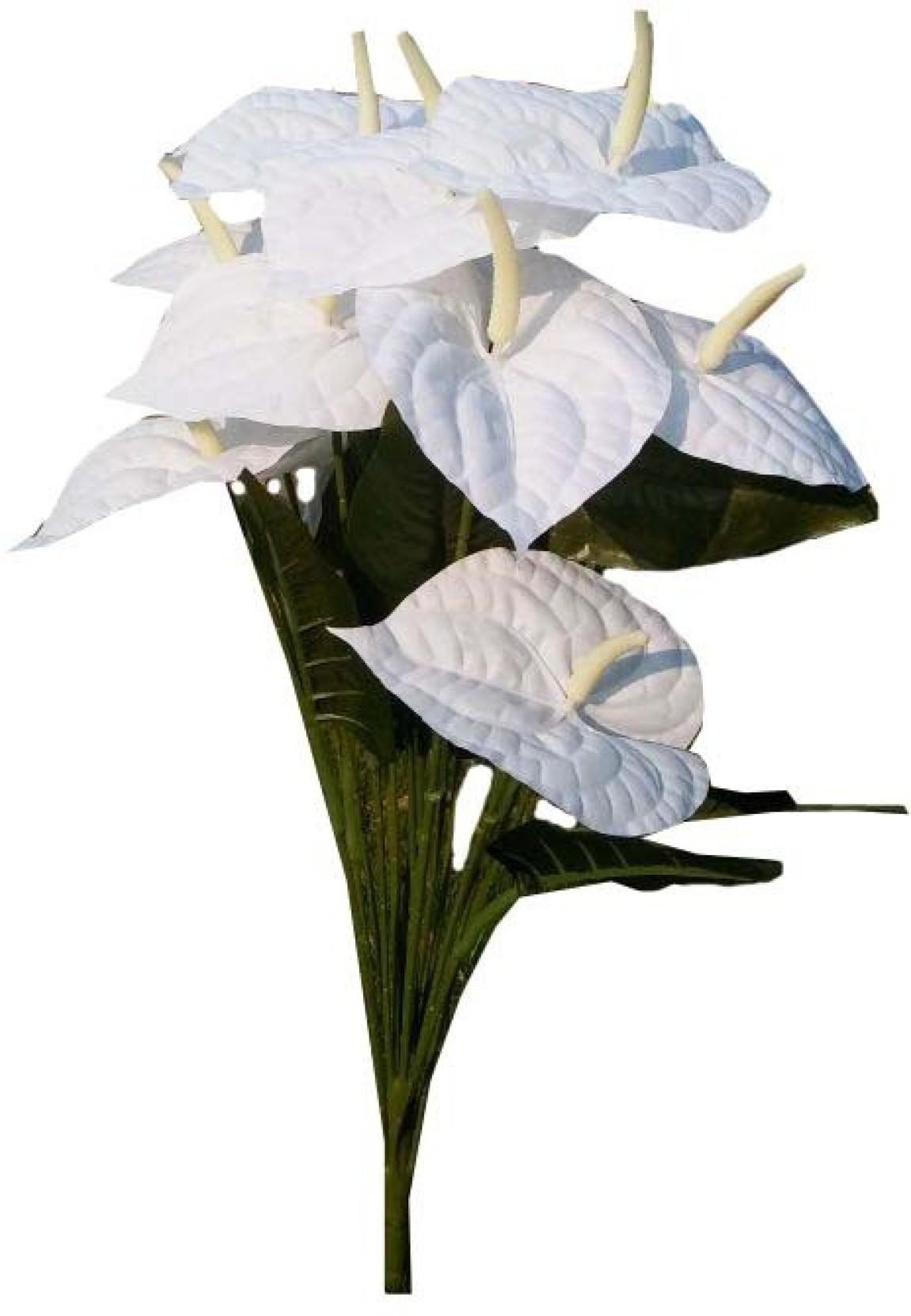 Kaykon Beautiful White Artificial Anthurium Flowers For Home Decor