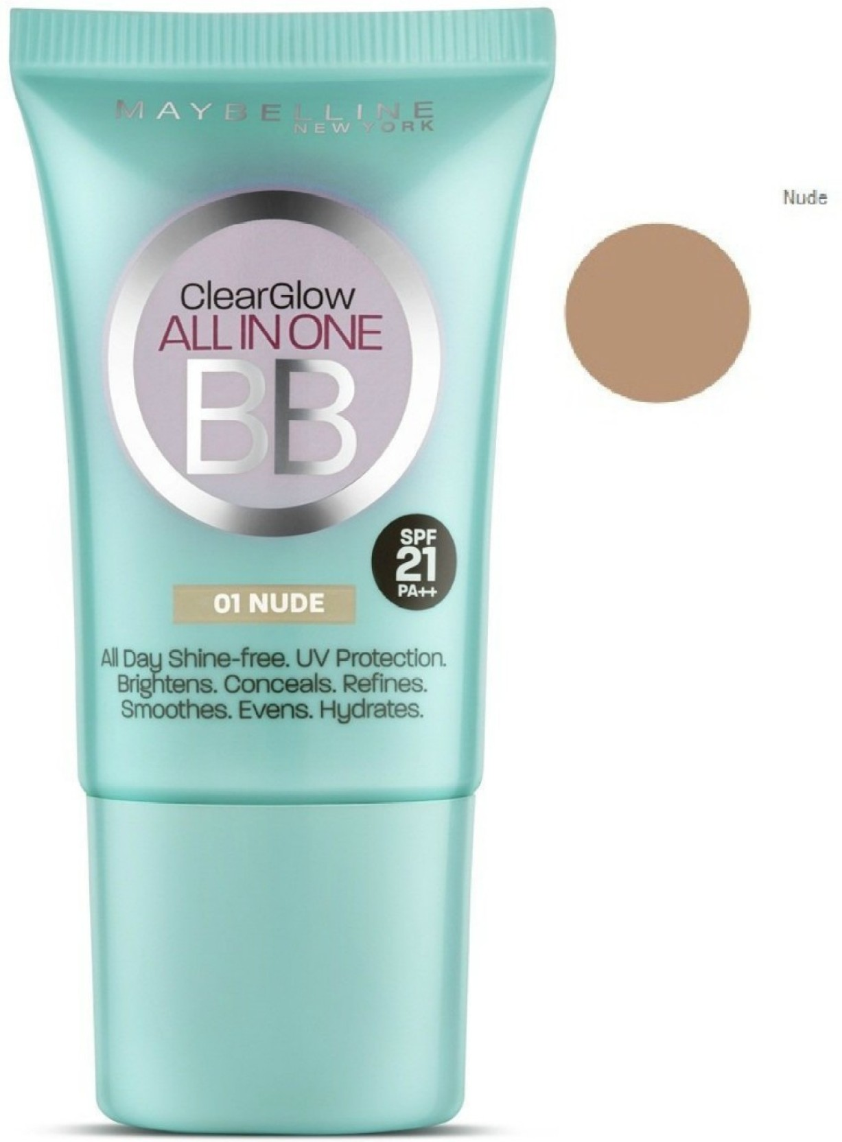 Maybelline Clear Glow All In One Bb Cream 01 Nude Price India Fresh Mat Cushion 02 Light Add To Cart