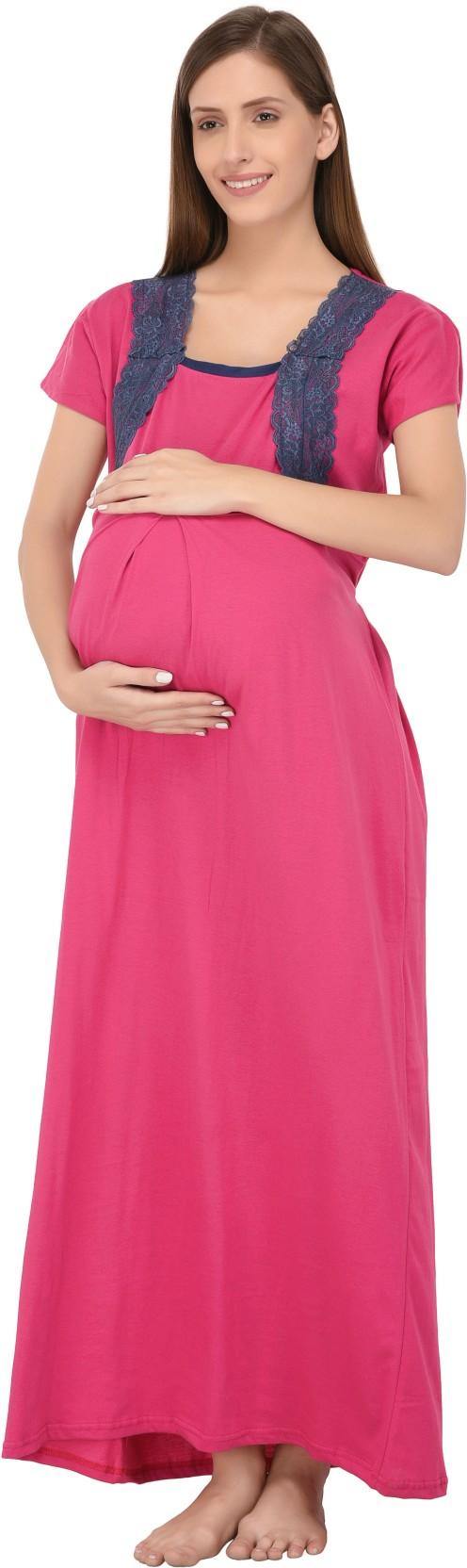 c246e942702 Fabme Women Maternity Nursing Nighty - Buy Fabme Women Maternity ...