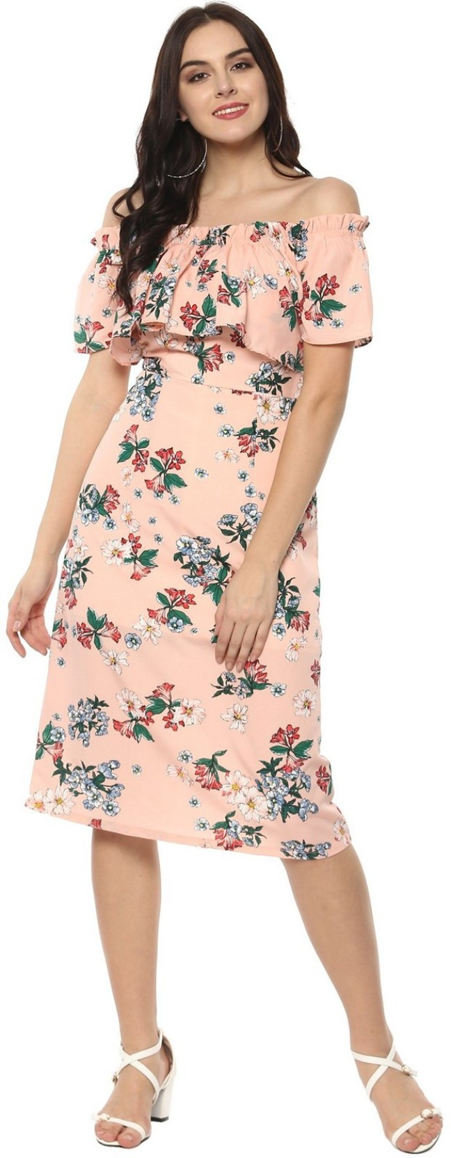 8d5ae494bb0050 Zima Leto Women s A-line Pink Dress - Buy Zima Leto Women s A-line ...