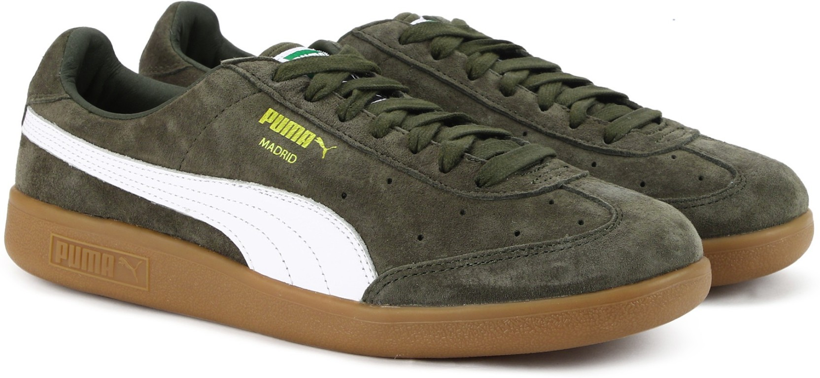 112149b0b0b5 Puma Madrid Suede Sneakers For Men - Buy Olive Night-Puma White-Puma ...