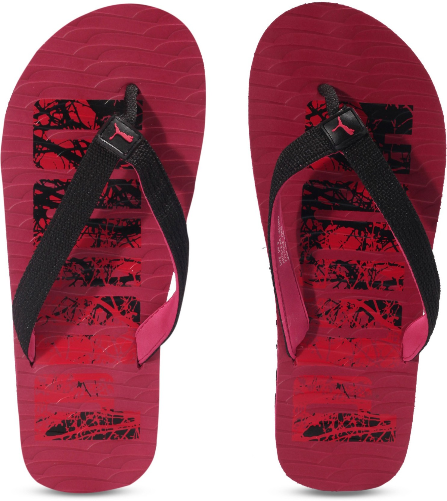 1ea071fc464d Puma Miami Fashion DP Flip Flops - Buy Black-Red Color Puma Miami ...