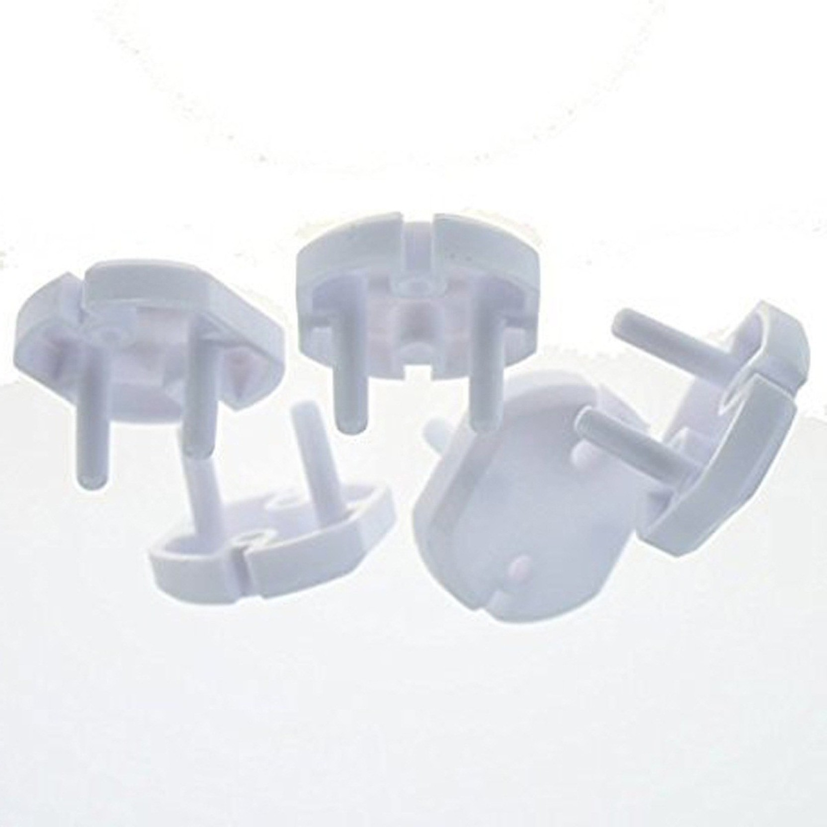 12 White 3 Pin Baby//Child Safety Plug Socket Guard Covers Clearance Sale