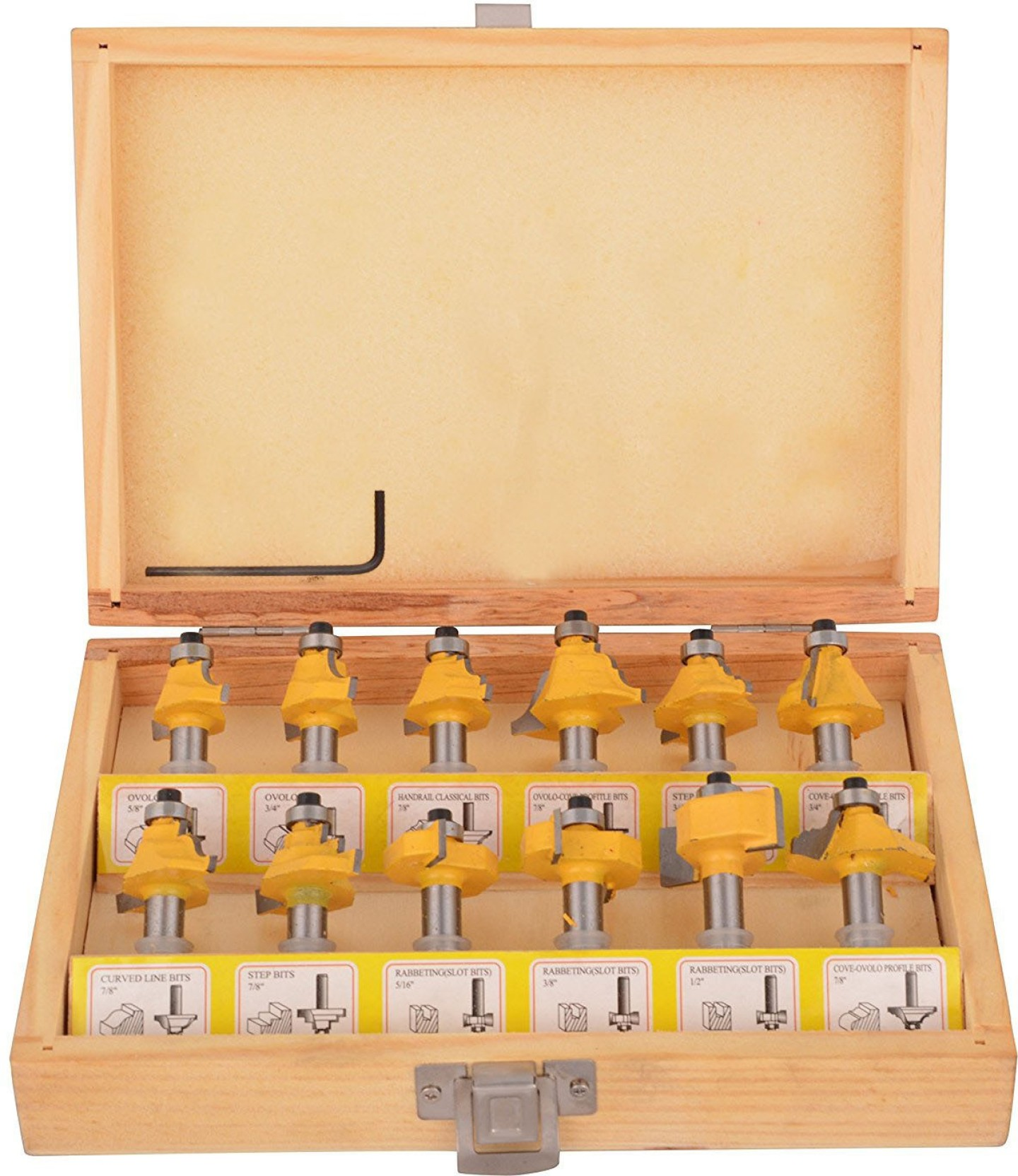 Isc 8 Mm Classic Router Bit Set Most Uses Able In 12 Shapes Rotary