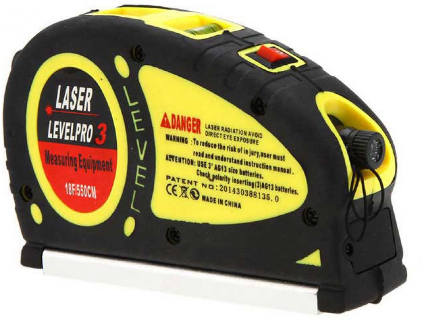 CASON Laser Level Pro3 (18 Feet/5 5m )Measure Tape,Laser