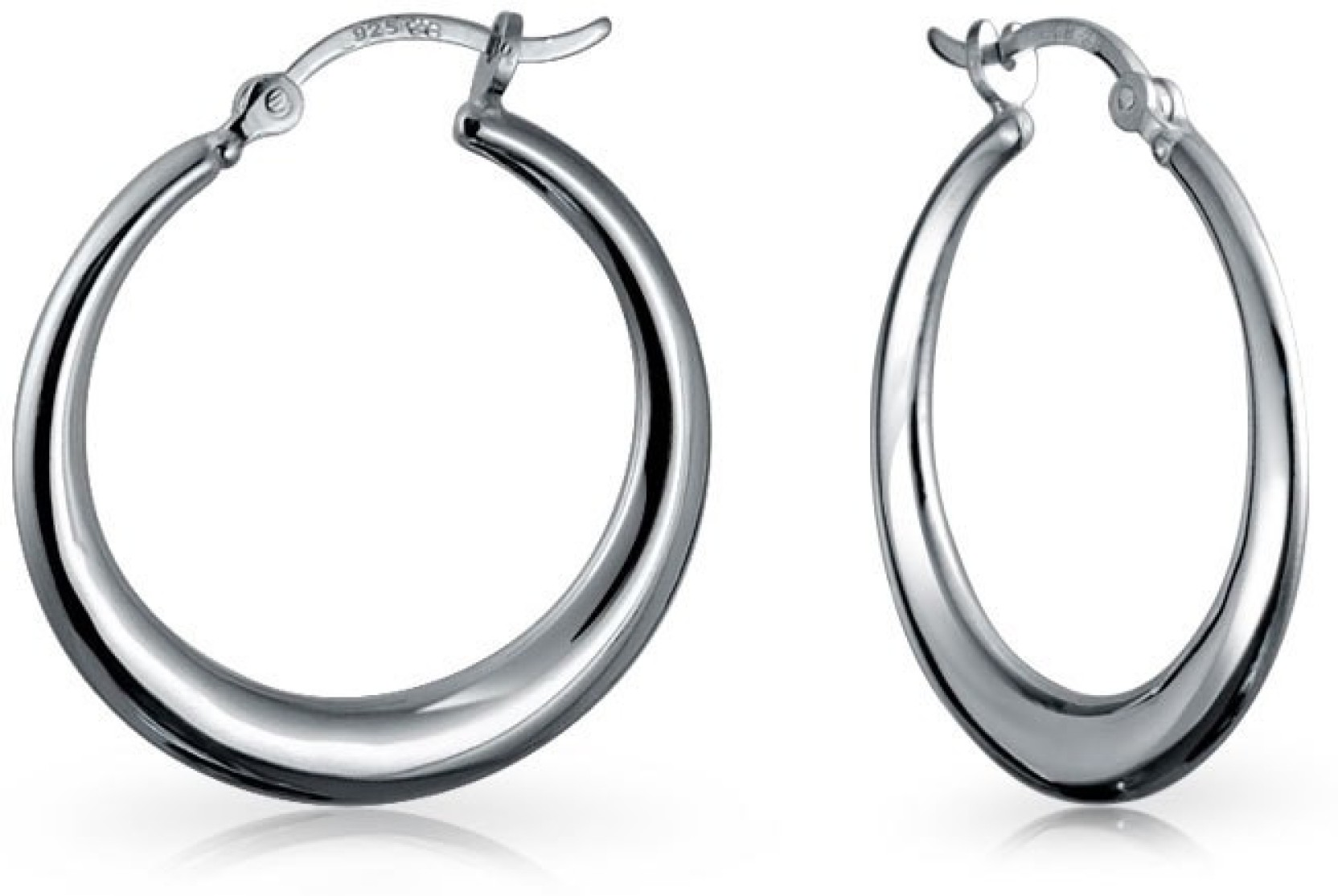 dc5f7b2e0 Flipkart.com - Buy Bling Jewelry Small Round Circle .925 Silver Hoop ...