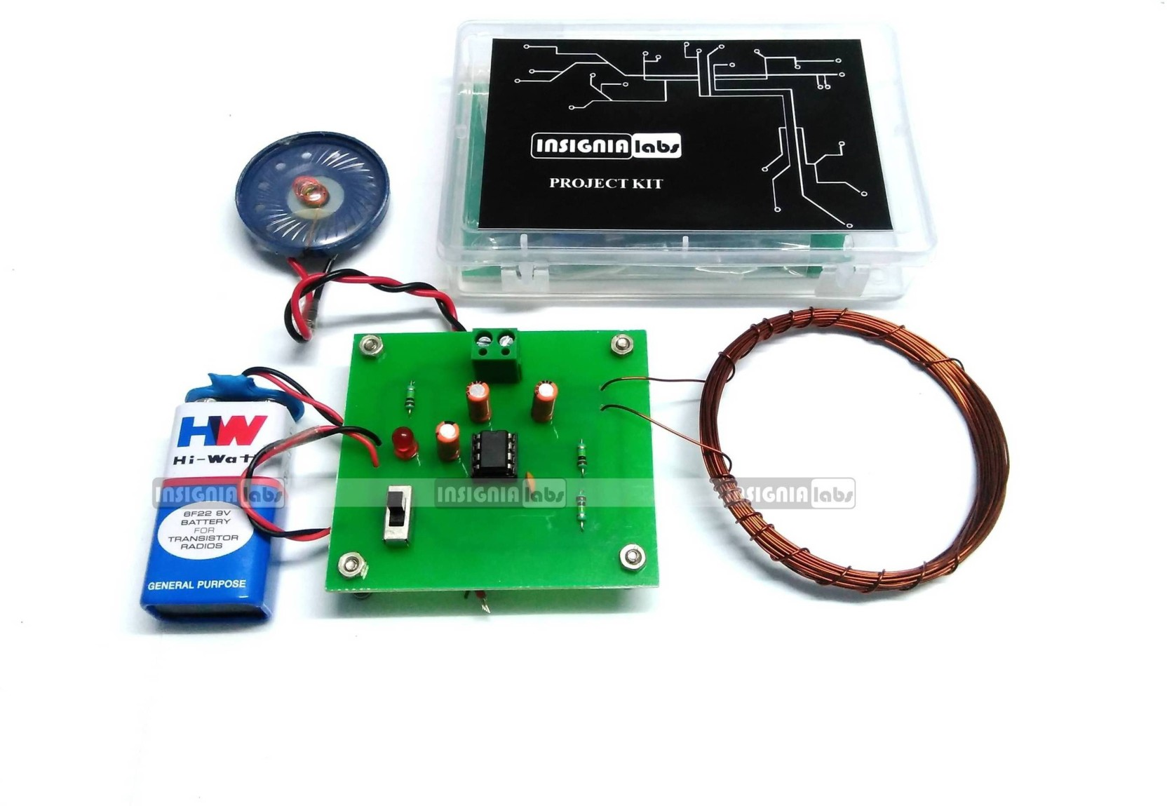 Insignia Labs Metal Detector Kit Project For School College Electronics Circuits Projects Electronic Kits Hobby More Add To Cart