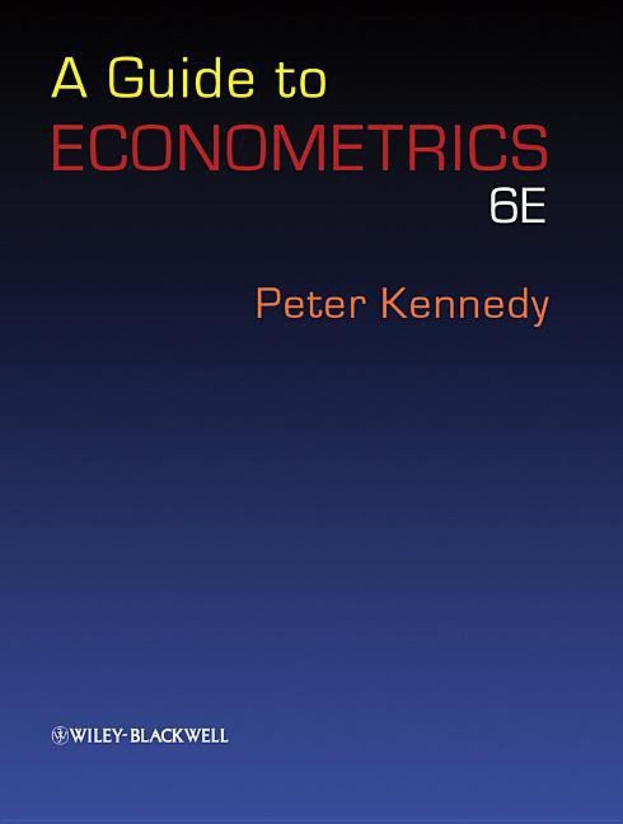 A Guide to Econometrics. ADD TO CART