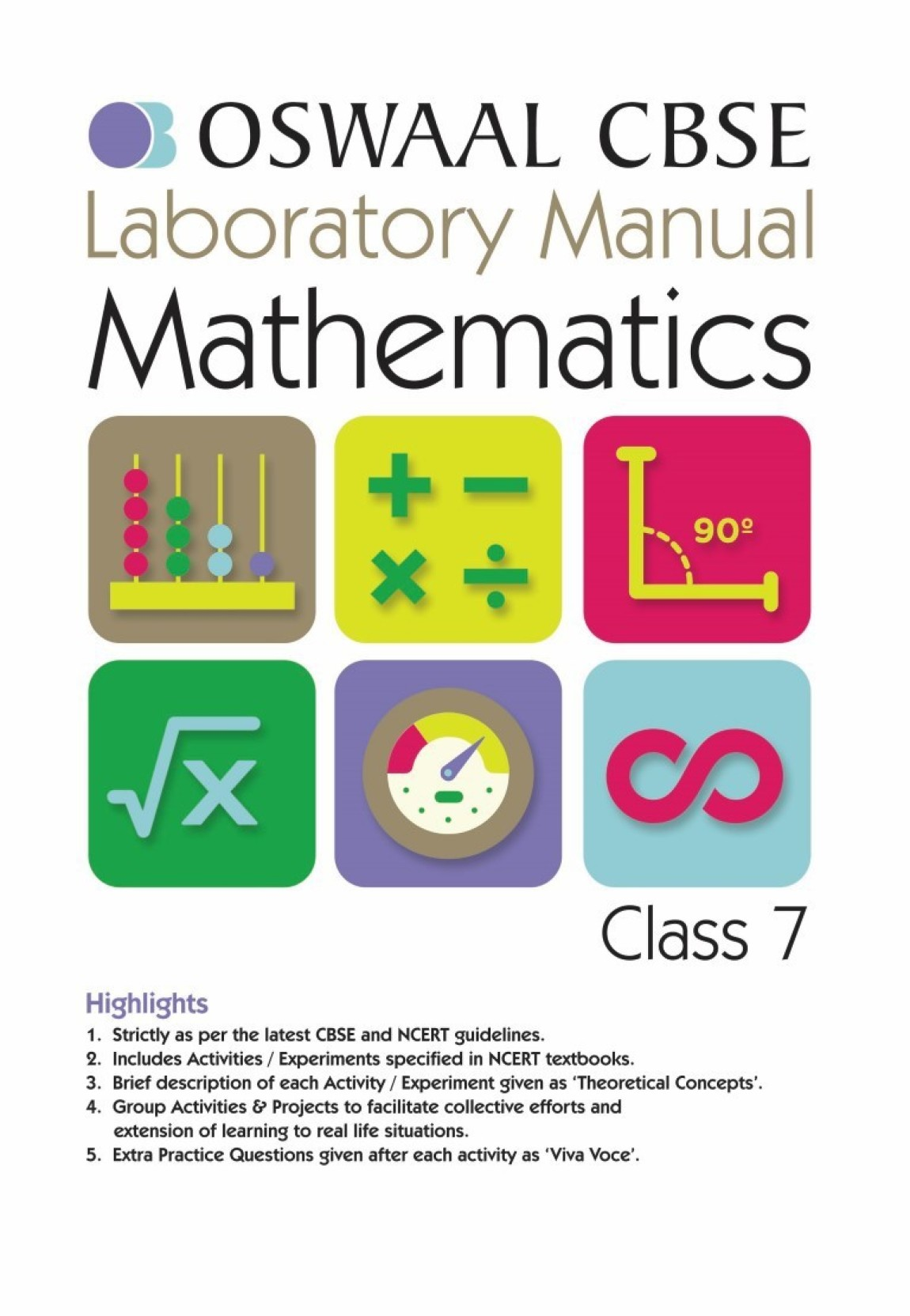 Oswaal CBSE Laboratory Manual For Class 7 Mathematics (Mar.2018 Exam). ADD  TO CART