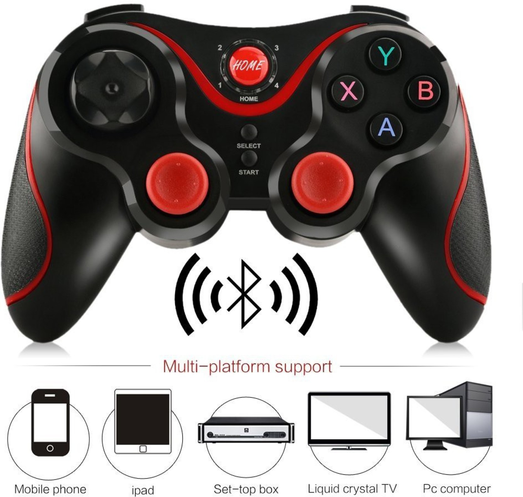Mbox S3 Wireless Bluetooth 30 Gamepad Gaming Controller For Android Ipega Mobile And Ios Pg 9021 Black Smartphone
